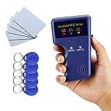 YAVIS RFID Kopierer 125 kHz Handheld Kartenleser Schriftsteller Duplizierer Programmierer + 10pcs beschreibbaren EM4305 / T5577 Key-Cards