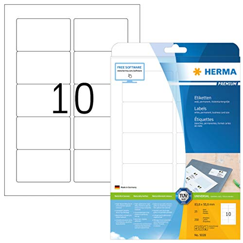 HERMA 5028 Universal Etiketten DIN A4...