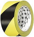 3M Gefahren-Markierungs-Klebeband 766i – Gestreiftes Warnband zur Boden- und Sicherheitsmarkierung mit PVC-Träger in Schwarz-Gelb, 50mm x 30m, 0,13mm