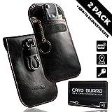 2X Autoschlüssel Keyless Go Schutz Schlüssel Tasche RFID Signal Blocker Abschirmung Hülle Etui Box