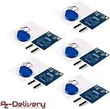 AZDelivery 5 x RFID Kit RC522 mit Reader, Chip und Card für Arduino und Raspberry Pi mit gratis eBook!