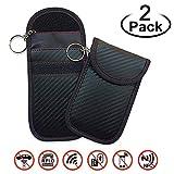 EasyULT Keyless Go Schutz Autoschlüssel[2 Pack], Faraday Tasche Signal Blocker Tasche Autoschlüssel Hülle,Strahlenschutz Tasche Blockiert RFID,NFC,Strahlenschutz Tasche, Signal Blocker(Schwarz)