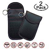 EasyULT Rfid Keyless Go Schutz Autoschlüssel[2 Pack],Rfid Funkschlüssel Abschirmung Schlüsseltasche, Strahlenschutz Tasche, Signal Blocker, Schlüsseletui Schutzhülle Car Key Safe(Schwarz)