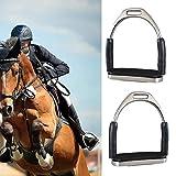 Sicherheitssteigbügel für Pferde, rutschfest, zusammenklappbar, Edelstahl, 12 x 13 cm, 1 Paar