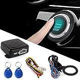 Semoic Smart RFID Auto Alarmanlage Push-Motor Start Stop-Taste Sperre Zuendung Wegfahrsperre mit Keyless Remote-Go Einstiegssystem 12 V