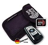 MakakaOnTheRun Keyless Go Schutz Autoschlüssel: RFID Blocker Autoschlüssel Hülle mit 2 RFID-Schutz Fächern. Funkschlüssel Abschirmung für alle Autos aus EU, Asien & Amerika