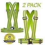 Apace Vision Reflektorweste (2er Pack)   Premium Sicherheitsweste für Laufen, Joggen, Walking, Fahrrad Fahren und Mehr