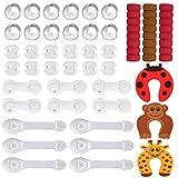 Baby Sicherheit Set Baby Kindersicherung Set mit Steckdosenschutz Eckenschutz verstellbare Schranksicherung und Türklammern Türklinkenschutz vollständiger Schutz für Ihre Kinder