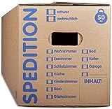 KK Verpackungen® Umzugskartons mit 50KG Tragkraft | 15 Stück, 2-wellige Mehrweg-Umzugskisten in extrastabiler Speditionsqualität