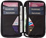 Reisepass Tasche Familien Reiseorganizer mit RFID Abschirmung - Reisedokumententasche Familie