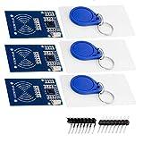 AZDelivery 3 x RFID Kit RC522 mit Reader, Chip und Card für Raspberry Pi inklusive E-Book!
