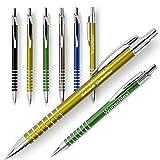 polar-effekt 1 Metall Rings Kugelschreiber mit Gravur des Namens - Personalisierte Geschenk-Idee zum Geburtstag Mitbringsel - blau schreibend - Farbe schwarz