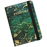 Supgear Reisepasshülle Halter, Hochwertigem Kunstleder Reisepass Schutzhülle mit RFID-Blocker für Kreditkarten, Ausweis und Reisedokumente für Damen Herrenn