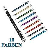 polar-effekt 1 Metall Oleg Kugelschreiber mit Gravur des Namens - Personalisierte Geschenk-Idee Mitbringsel - blau schreibend - Geburtstagsgeschenk - Farbe schwarz
