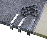 Meiso Tischdeckenklammer, 6 Stück Edelstahl Tischdecke Clip Abdeckung Klemmen für Hochzeit Camping (2.95 x 1.77 Inch)