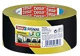 tesa Markierungs- und Warnklebeband, gelb-schwarz, 66m x 50mm