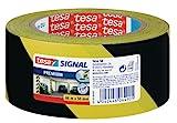 tesapack Markierungs- und Warnklebeband, 66m:50mm, gelb-schwarz