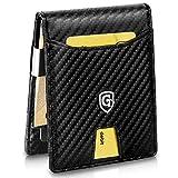 GenTo Herren Geldbörse Singapore mit Geldklammer und Münzfach - TÜV geprüfter RFID, NFC Schutz - erhältlich in 5 Farben | Design Germany (Carbon)