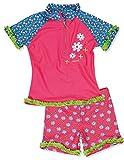 Playshoes Mädchen UV-Schutz Bade-Set Blumen Badebekleidungsset, Mehrfarbig (Original 900), 98 (Herstellergröße: 98/104)