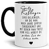 Tassendruck Spruch-Tasse für Mitarbeiter und Kollegen - Gute Kollegen - Innen & Henkel Schwarz - Mug/Cup/Becher/Lustig/Geschenk-Idee/Beste Qualität