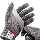 NoCry Schnittsichere Handschuhe – Leistungsfähiger Level 5 Schutz, lebensmittelecht. Größe : Large, 1 Paar