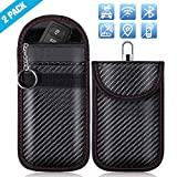 ZOTO Keyless Go Schutz, Autoschlüssel Schutz Hülle 2 Pack, RFID/WiFi/NFC Blocker Abschirmung Auto Faraday Schlüsseltasche Schlüsseletui Car Key Safe