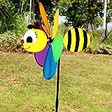 Windmühle Kinder ume Schmetterling Garten Hof Hause Ornament Windräder Wind Spinner lustige Fotoaufnahme Prop Kinder Spielzeug RFID blockieren Garten Hof ation(Biene)